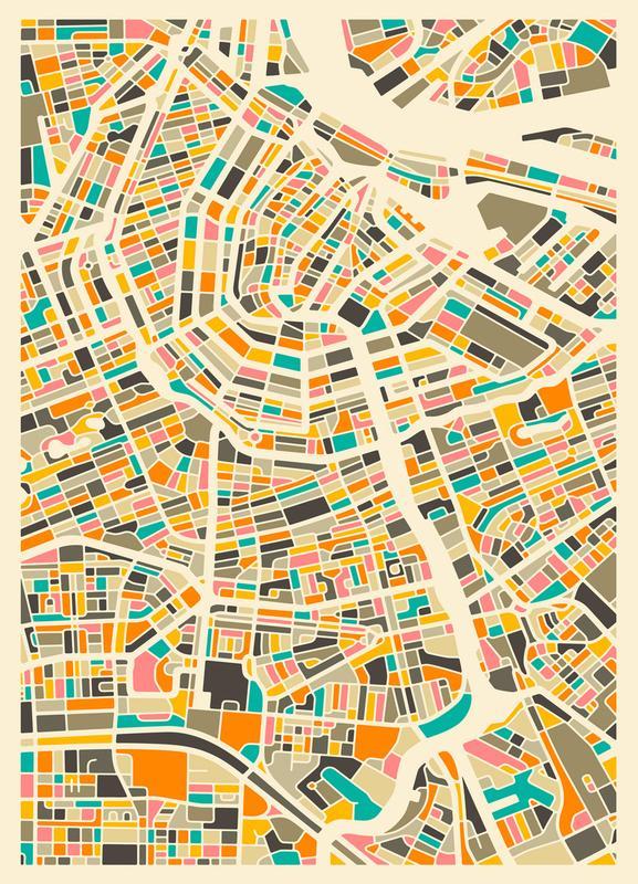 Amsterdam -Leinwandbild