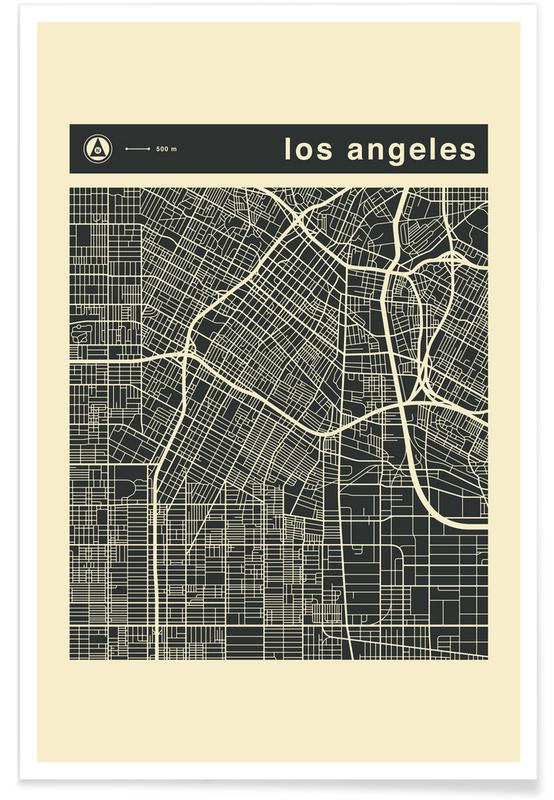 City City Maps Series 3s Series 3 -  Los Angeles -Poster
