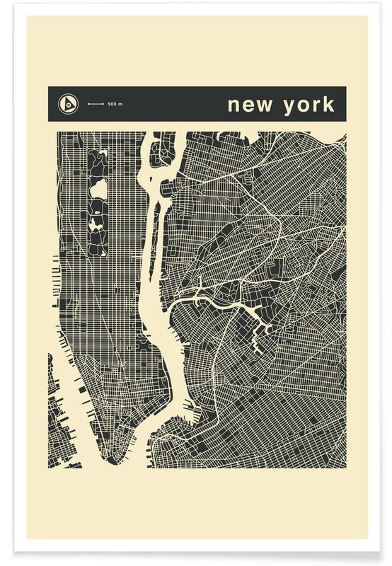 City City Maps Series 3s Series 3 - New York -Poster