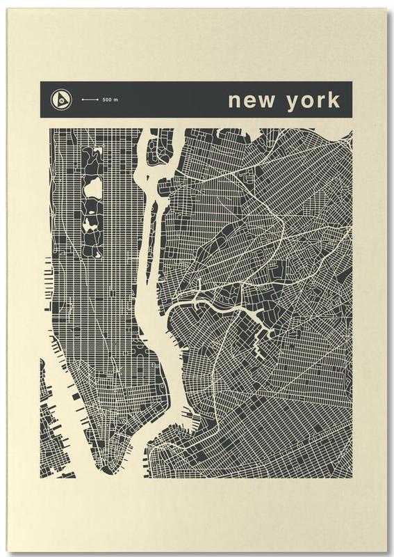 Cartes de villes, New York, City City Maps Series 3s Series 3 - New York bloc-notes