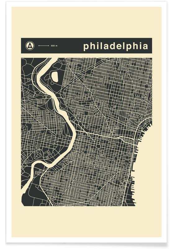 City Maps, City Maps Series 3 Series 3 - Philadelphia Poster