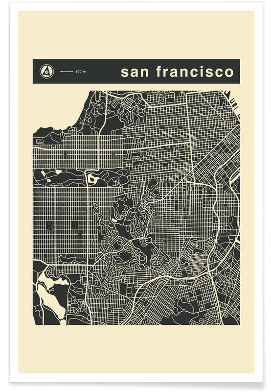 Stadtpläne, San Francisco, City Maps Series 3 Series 3 - San Francicso -Poster