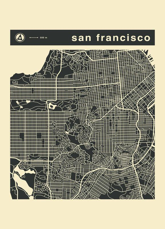City Maps Series 3 Series 3 - San Francicso Canvas Print