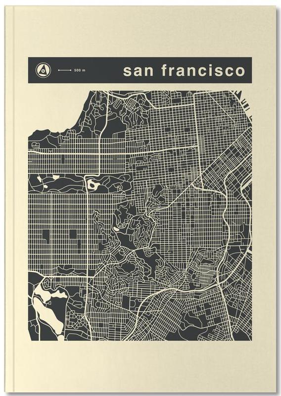 Cartes de villes, San Francisco, City Maps Series 3 Series 3 - San Francicso Notebook