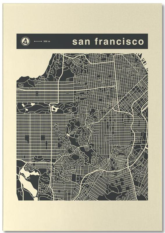 Stadskaarten, San Francisco, City Maps Series 3 Series 3 - San Francicso notitieblok