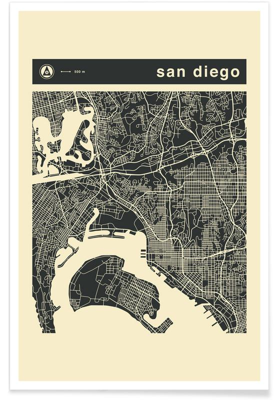 City Maps Series 3 Series 3 - San Diego -Poster