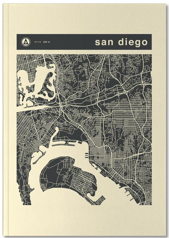 Cartes de villes, City Maps Series 3 Series 3 - San Diego Notebook