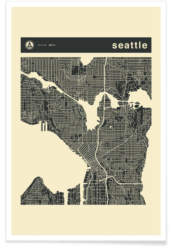 City Maps Series 3 Series 3 - Seattle -Poster