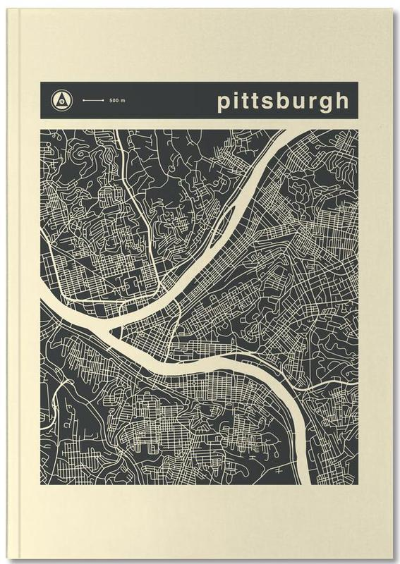 Cartes de villes, City Maps Series 3 Series 3 - Pittsburgh Notebook