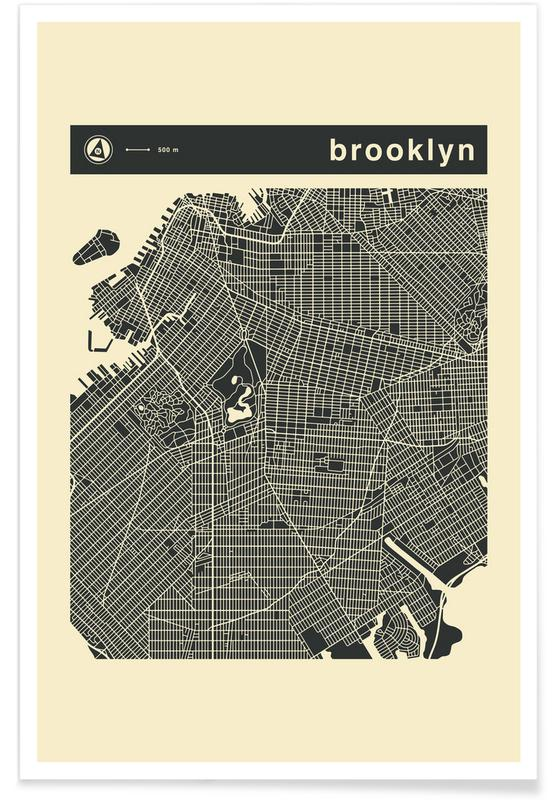 City Maps Series 3 Series 3 - Brooklyn -Poster
