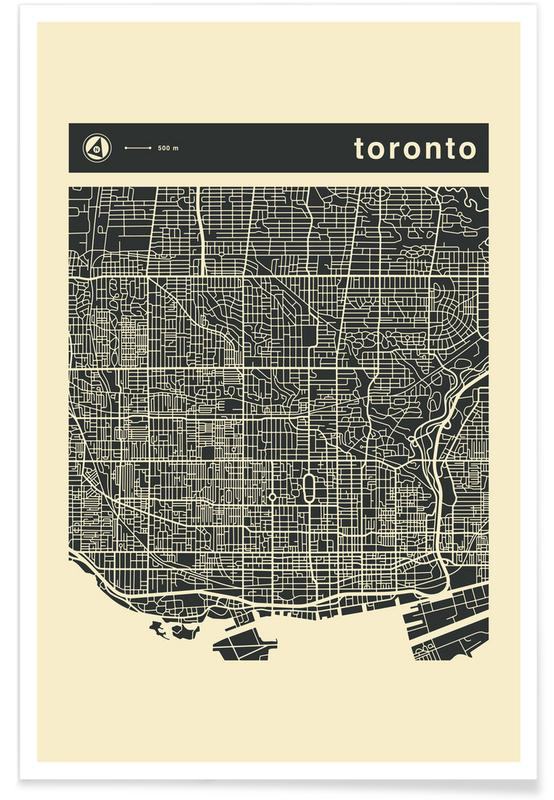 City Maps Series 3 Series 3 - Toronto -Poster