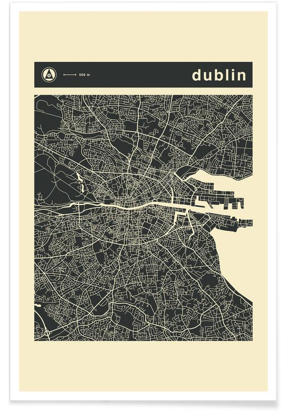 City Maps Series 3 Series 3 - Dublin -Poster