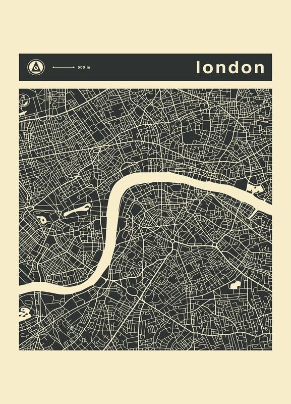 City Maps Series 3 Series 3 - London toile