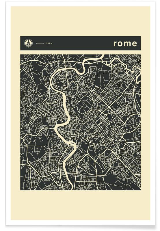 City Maps, Rome, City Maps Series 3 Series 3 - Rome Poster