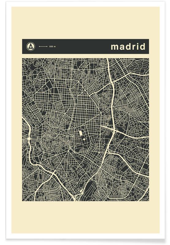 City Maps Series 3 Series 3 - Madrid -Poster