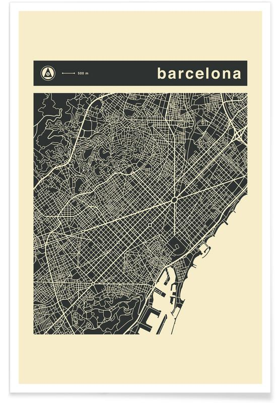 City Maps Series 3 Series 3 - Barcelona -Poster