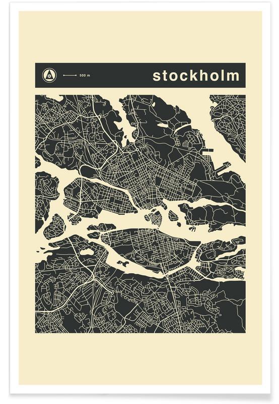 City Maps, Stockholm, City Maps Series 3 Series 3 - Stockholm Poster