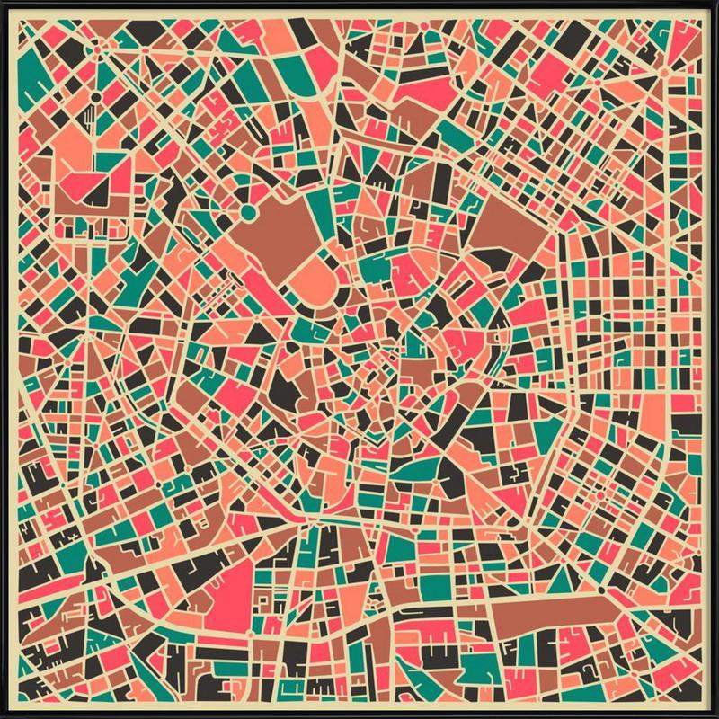 Milan -Bild mit Kunststoffrahmen