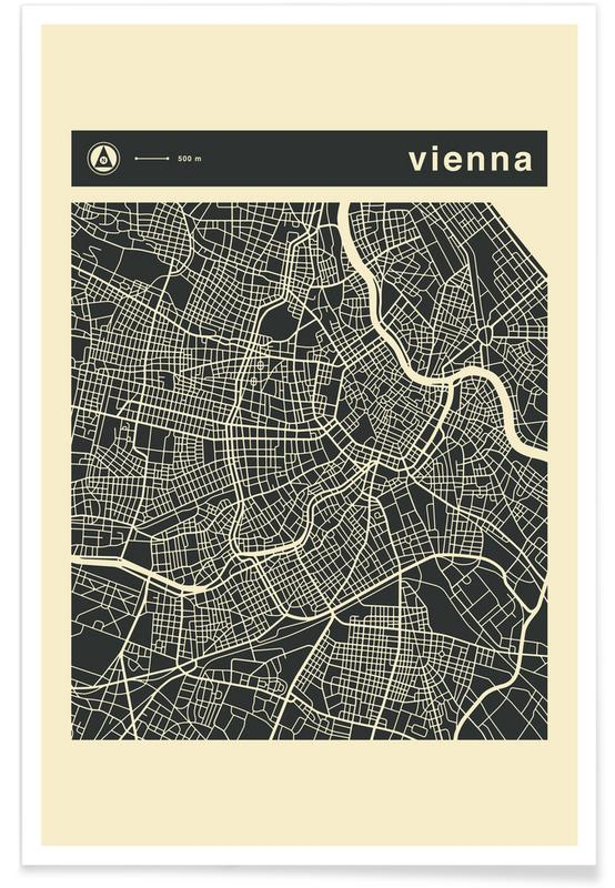 Stadtpläne, Wien, City Maps Series 3 Series 3 - Vienna -Poster