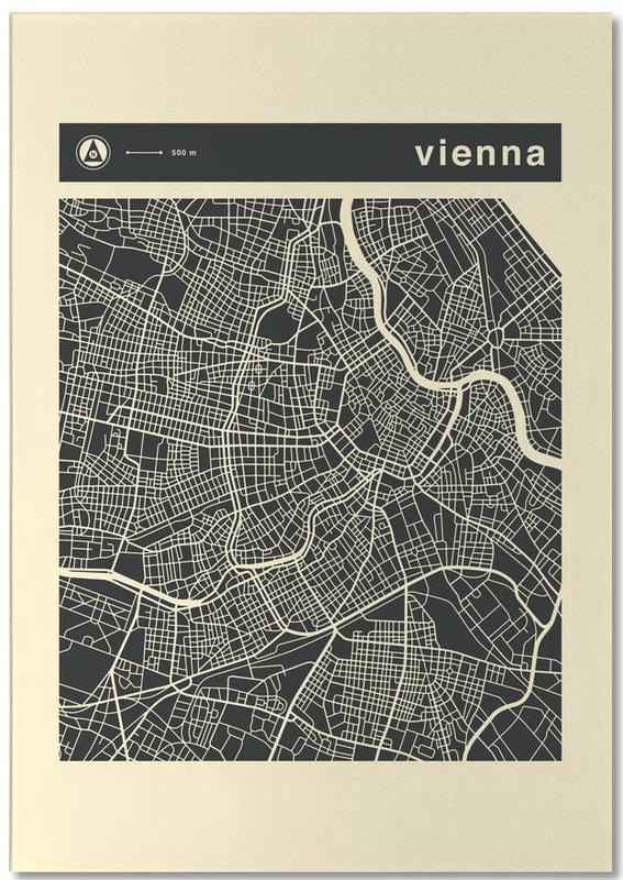 Cartes de villes, Vienne, City Maps Series 3 Series 3 - Vienna bloc-notes