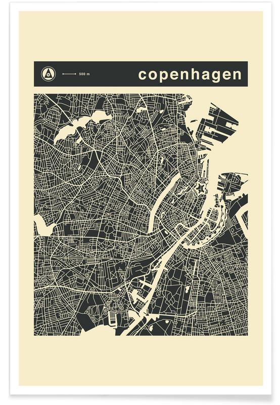 City Maps, Copenhagen, City Maps Series 3 Series 3 - Copenhagen Poster