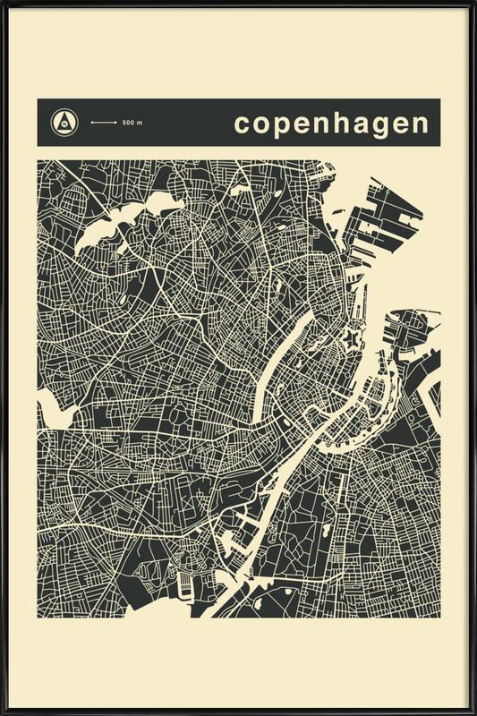City Maps Series 3 Series 3 - Copenhagen Framed Poster