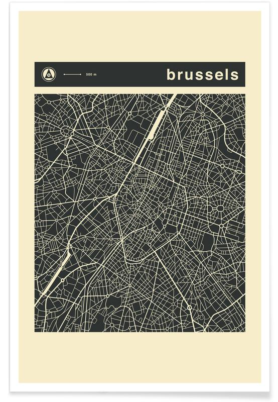 City Maps Series 3 Series 3 - Brussels -Poster