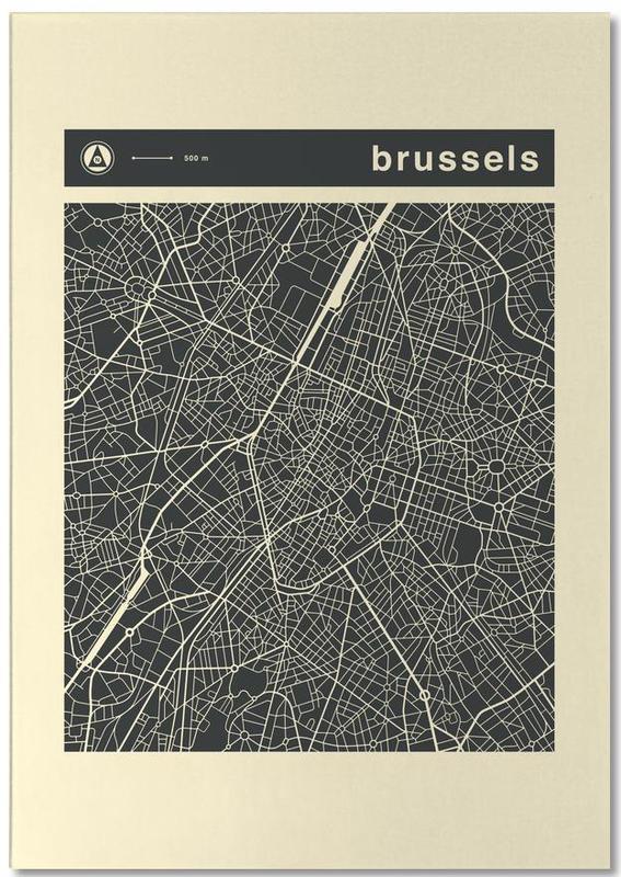 Cartes de villes, City Maps Series 3 Series 3 - Brussels bloc-notes