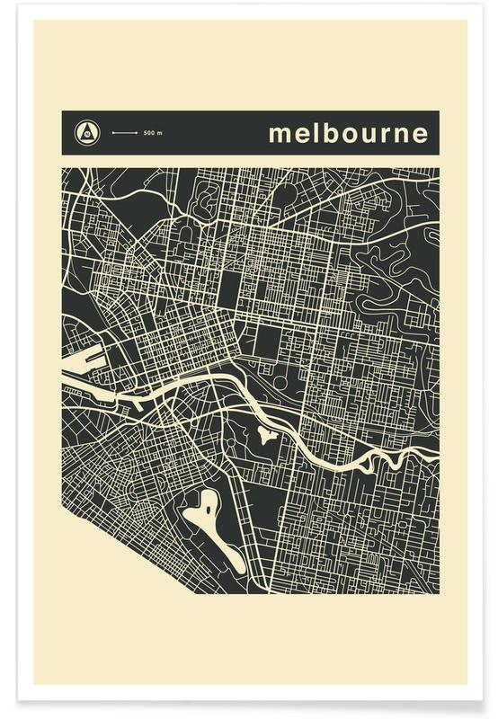 City Maps Series 3 Series 3 - Melbourne -Poster