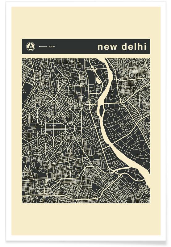 City Maps Series 3 Series 3 - New Delhi Poster