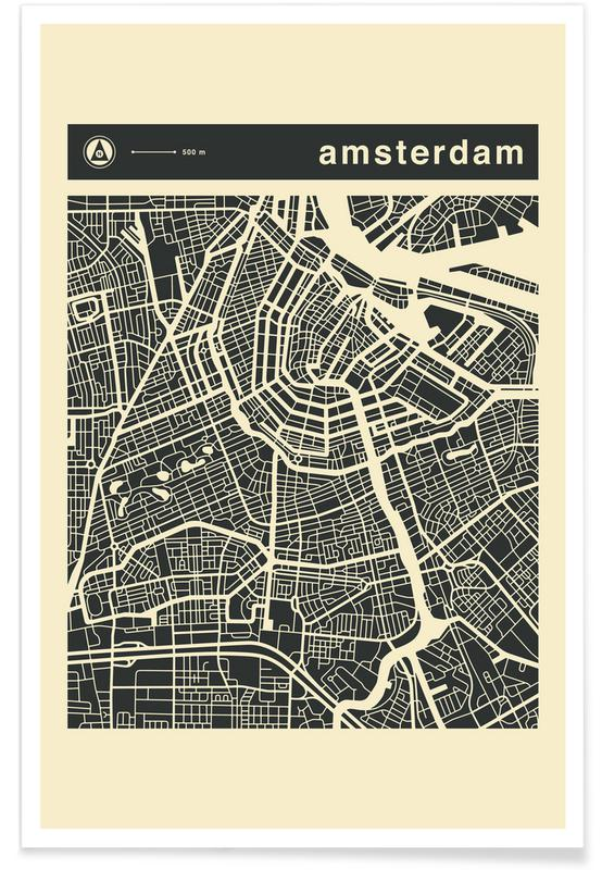 City Maps Series 3 - Amsterdam poster