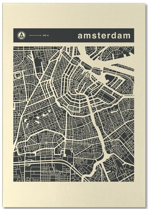 City Maps Series 3 - Amsterdam Notepad