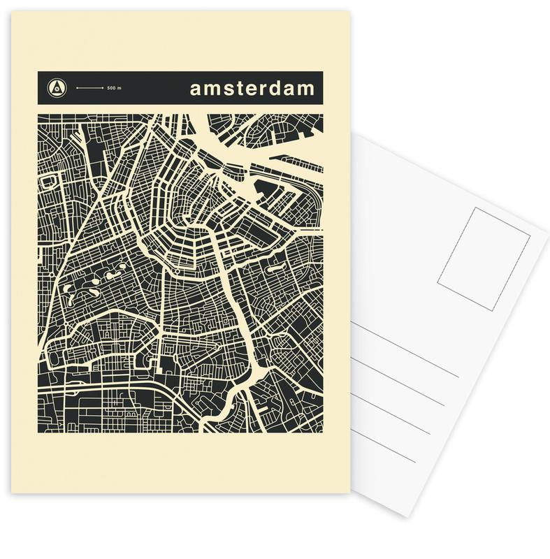 Amsterdam, Stadtpläne, City Maps Series 3 - Amsterdam -Postkartenset