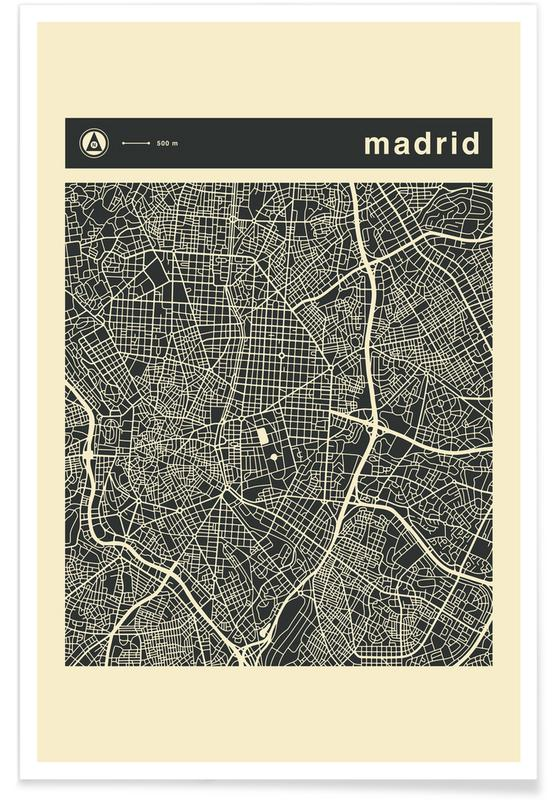 City Maps Series 3 - Madrid -Poster