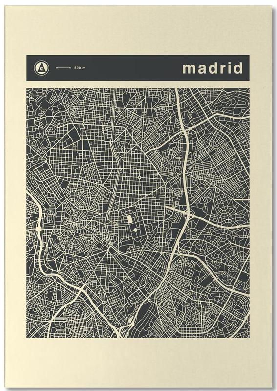 City Maps, Madrid, City Maps Series 3 - Madrid Notepad