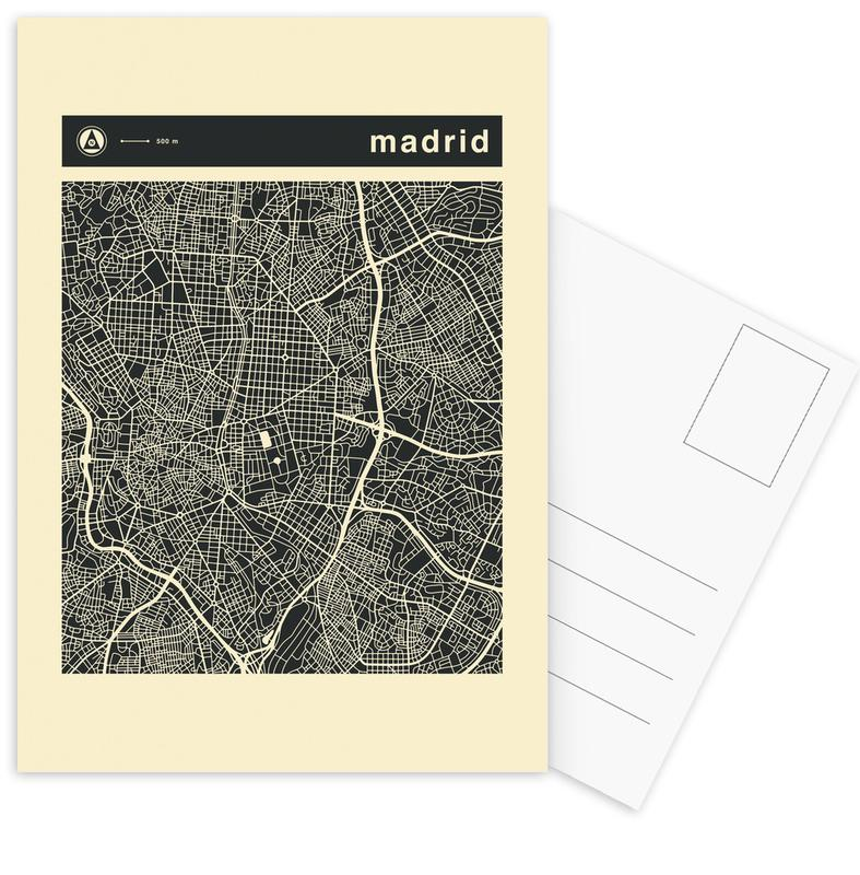 Stadtpläne, Madrid, City Maps Series 3 - Madrid -Postkartenset