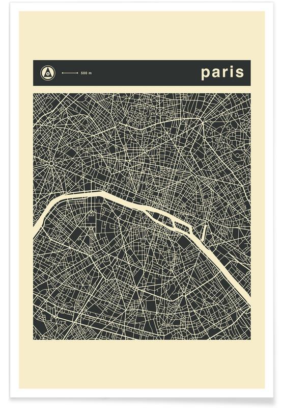 City Maps, Paris, City Maps Series 3 - Paris Poster