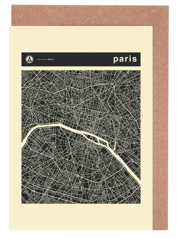 City Maps, Paris, City Maps Series 3 - Paris Greeting Card Set