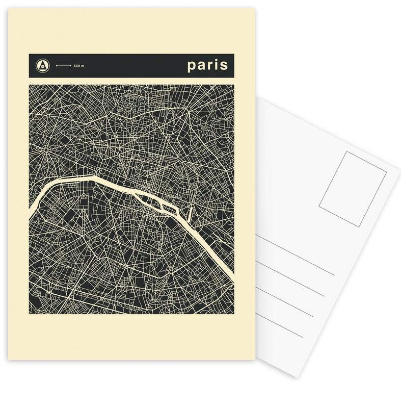 City Maps, Paris, City Maps Series 3 - Paris Postcard Set