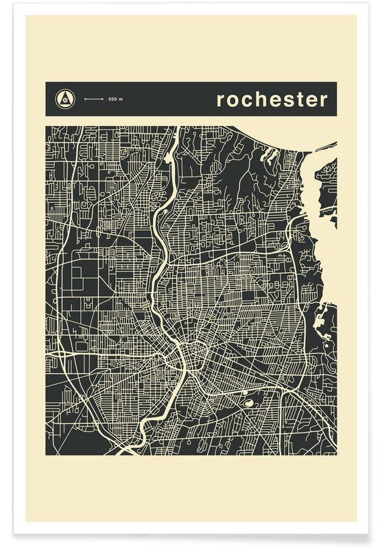 Stadskaarten, City Maps Series 3 - Rochester poster