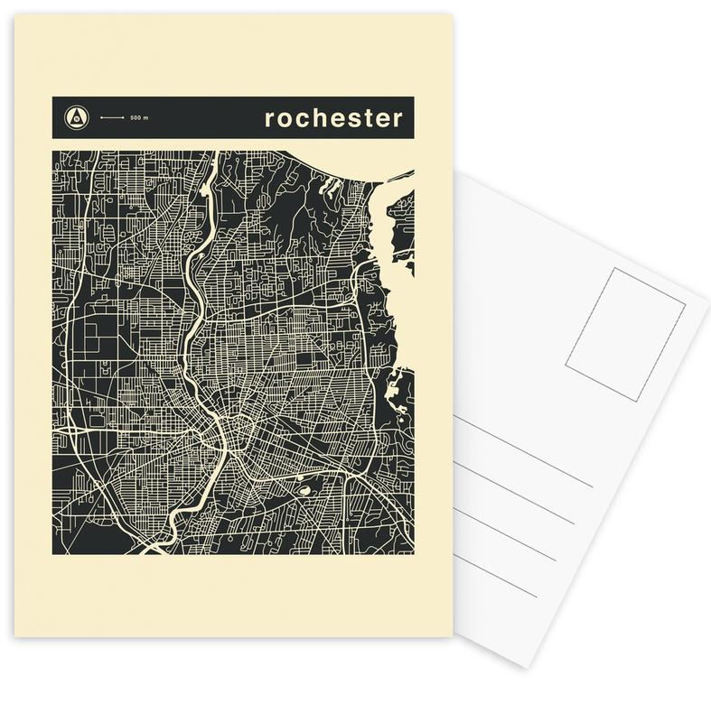 Stadtpläne, City Maps Series 3 - Rochester -Postkartenset