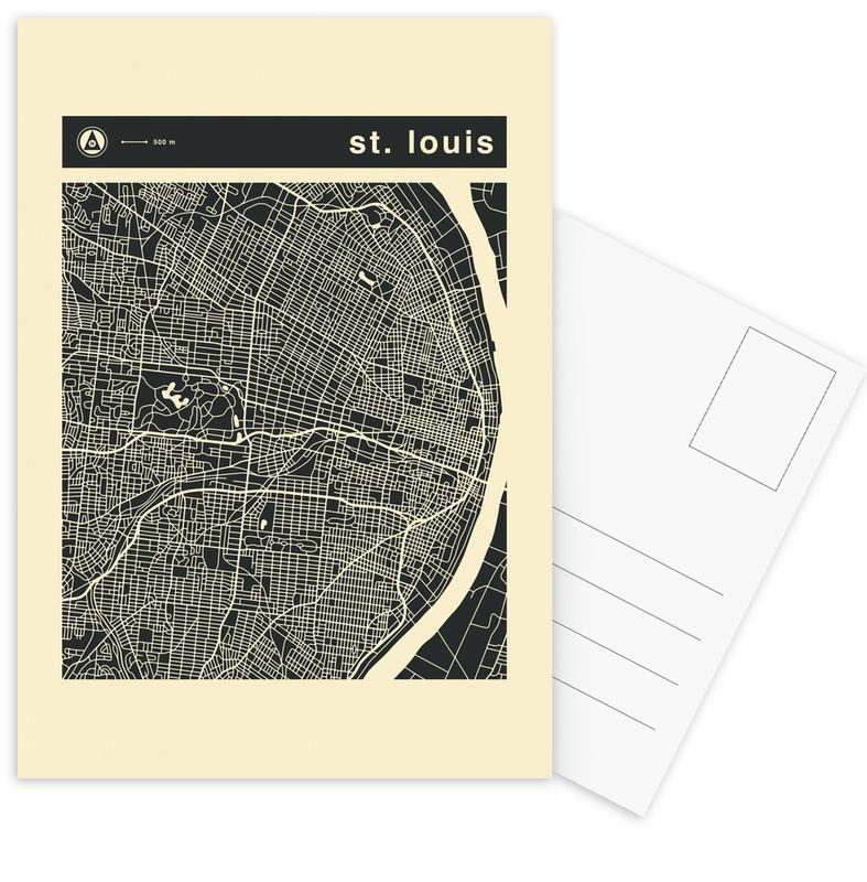 Stadtpläne, City Maps Series 3 - St. Louis -Postkartenset