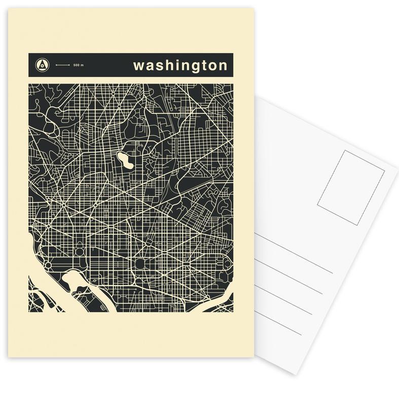 City Maps, City Maps Series 3 - Washington Postcard Set