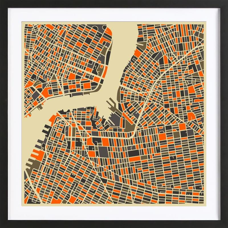 Brooklyn -Bild mit Holzrahmen