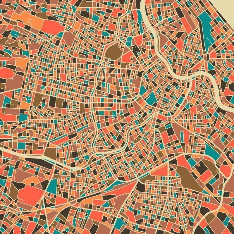 Vienna canvas doek