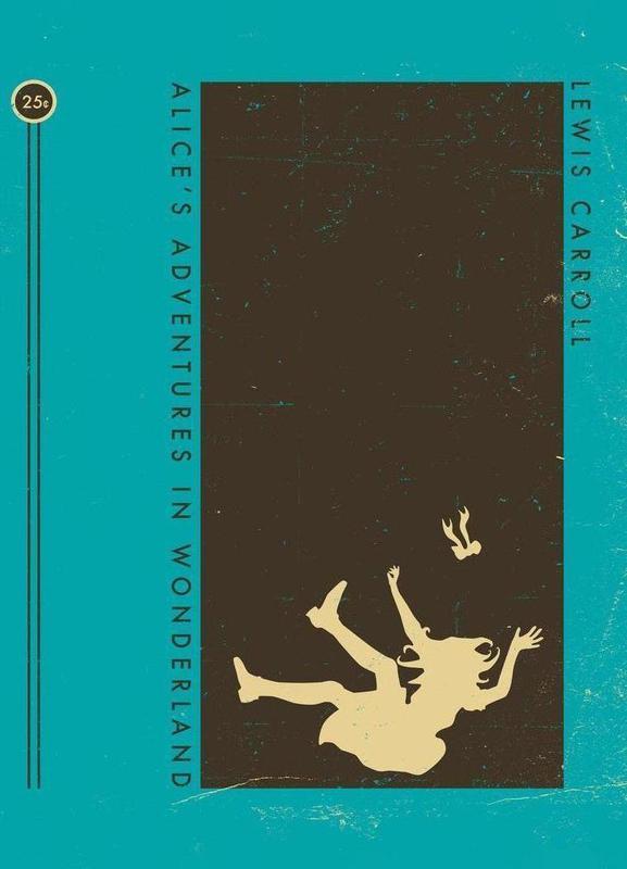 Alice Book Cover -Leinwandbild