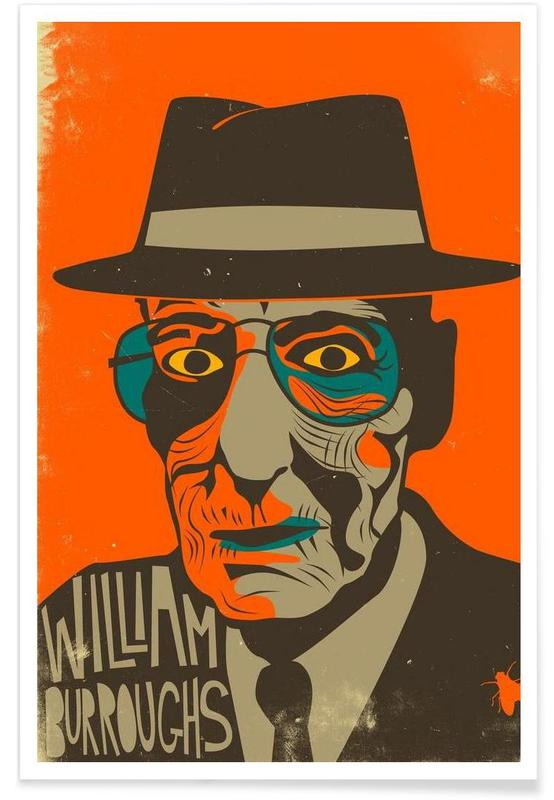 William Burroughs poster