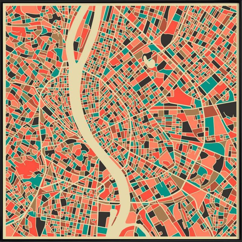 Budapest -Bild mit Kunststoffrahmen