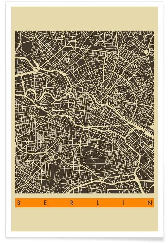 Berlin, Cartes de villes, Berlin II affiche