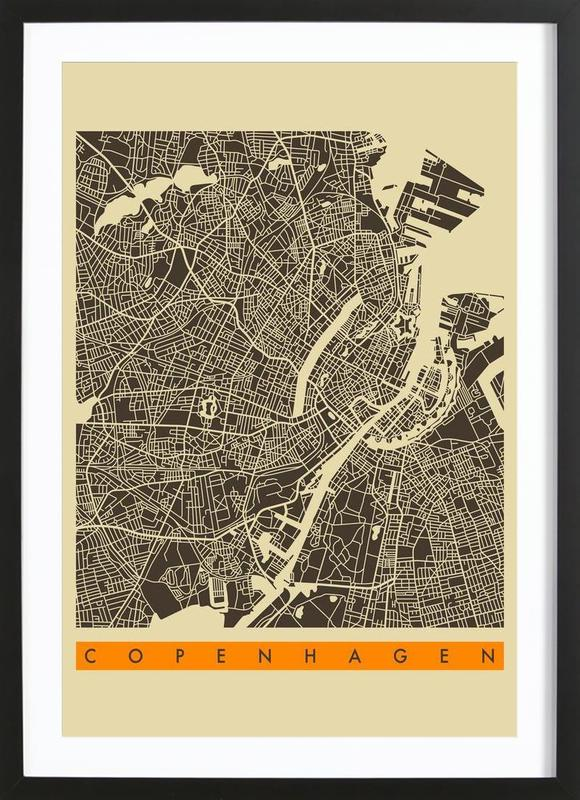 Copenhagen II -Bild mit Holzrahmen